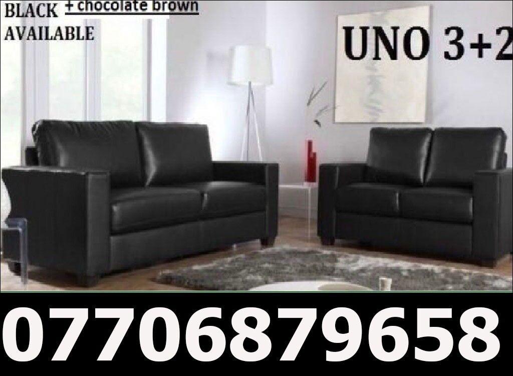 3 2 Italian Leather Sofa Brand New Black Or Brown Sofas