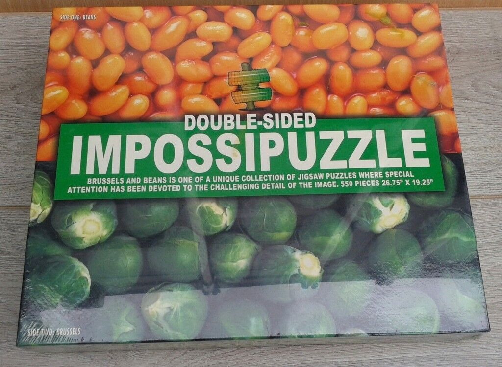 Impossipuzzle: Beans and Sprouts - Sealed/Unused - Double Sided 550 piece Jigsaw Puzzle.