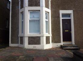 Main door one bedroom unfurnished flat for rent