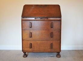 Vintage Antique Bureau Desk Chest of Drawers