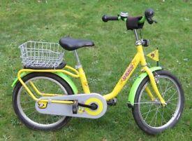 "Puky Z8 kid's bike, 4+ years, 18"" wheel, yellow frame"