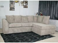 """BRAND NEW WARM AND COSY DYLAN CORNER UNIT/3+2 IN JUMBO CORD FABRIC """"EXPRESS DELIVERY"""""""