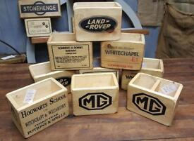 Wooden boxes WINCHESTER