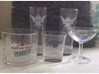 5 Alcohol Branded Glasses