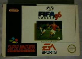 """SNES """"FIFA 96"""" GAME BOXED & COMPLETE"""