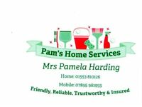 Pam's Home Services: Domestic Cleaning & Tidy up service.