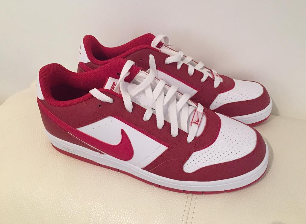 Brand new men's Nike Air trainers UK 11. Red and White. Mint condition. No box