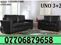 3 + 2 Italian leather sofa brand new black or brown sofas