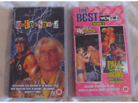 2 Classic VHS Tapes- WCW - Uncensored (1999) & The Best of WCW/nWo Vol II (2000)