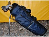 SET OF 9 RAM GOLF CLUBS WITH GOLF BAG & PUTTER BARGAIN PRICE IDEAL FOR BEGINNER £20