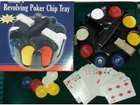 Revolving Poker Chip Tray
