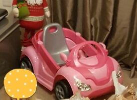 Girls electric car forward and reverse, lights n sound barely used and when used only ever in house