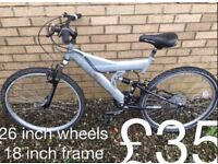 Ladies or gents Mountain Bikes £30 - £50 mountain bike cycle commuter student mtb
