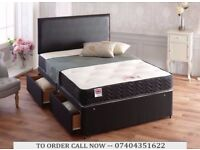 double divan bed with memory foam mattress
