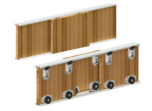 Sliding Door Track System 70kg/1800mm. 3 doors gear set ...