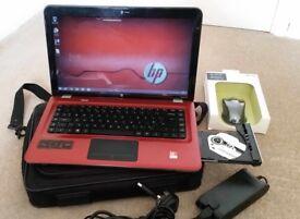 Little used Laptop HP 15.6 screen - Dual Core - 4 GB Ram - 500hdd - Bag - Bluetooh Mouse - £120