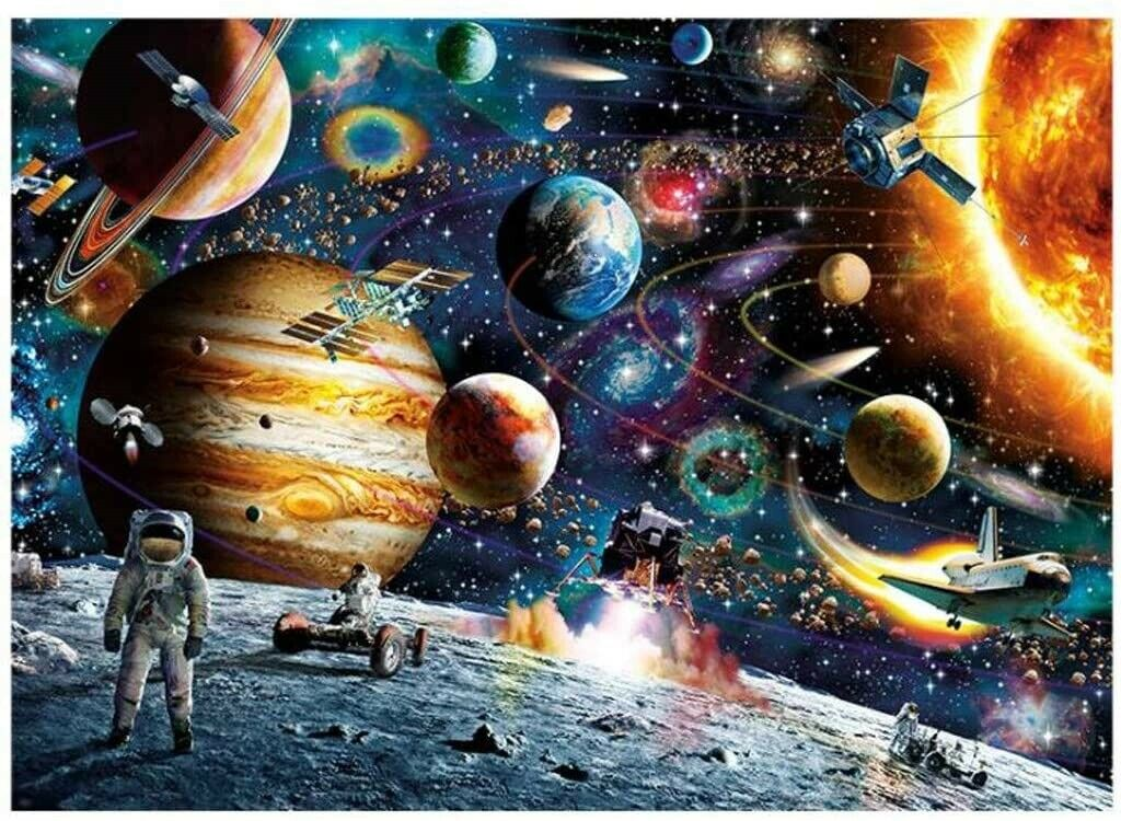 Space Puzzle 1000 Pieces Jigsaw Puzzles for Adults, Landscape Pattern Age 14+ Contemporary Puzzles