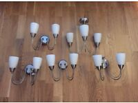 4 x pairs of wall lights with matching ceiling light