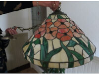 Tiffany glass pendant dining table light fitting