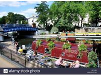 along the canal-side of Little Venice, 1bed room,ground floor. Outstanding Views.