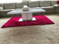 PINK RUG AS BRAND NEW **