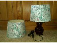 lamp and matching ceiling lamp shade