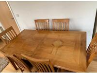 Oak Marquetry Dining Table
