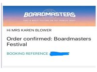 X2 Boardmasters 2018 Friday and Sunday Day Tickets