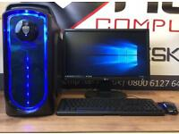 Brand New Gaming PC Six Core 8GB Ram Win 10 2GB Graphics Card Free Doorstep Delivery MINECRAFT CSGO