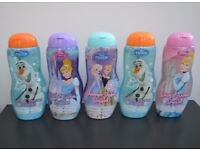 5 Brand New Disney Frozen & Princesses Bath and Shower Bubbles. Ideal stocking filler / gift.
