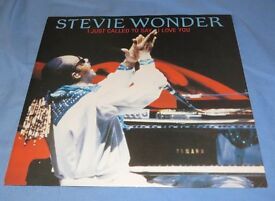 """Vinyl extended play 12 """" - Stevie Wonder """"I just called to sat i love you"""""""