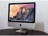 """iMac 20"""" (mid 2007) Core2Duo @2Ghz 4GB DDR2 240GB SSD Ati Radeon HD, OS X Yosemite 10.10.5"""