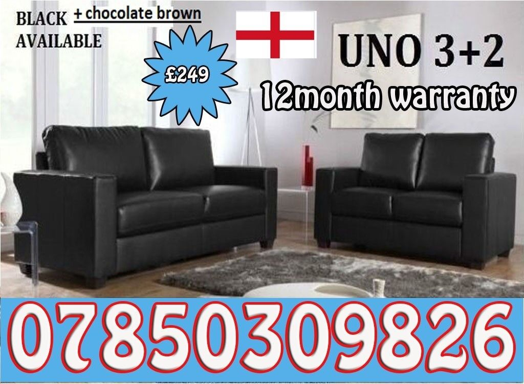 World Cup Offer 3 2 Italian Leather Sofa Brand New Black Or Brown Sofas