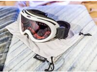 Bolle ski goggles pink lens white frame ventilated