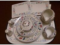BHS Priory dinner set and tableware
