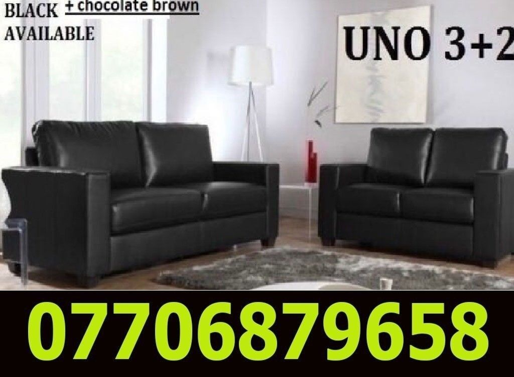 3 2 Italian Leather Sofa Brand New Black Or Brown Sofas