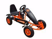 Ride 1 Duplay Velocity Racer MEGA LARGE Kids Pedal Go Kart - Orange FULL RRP £399.99
