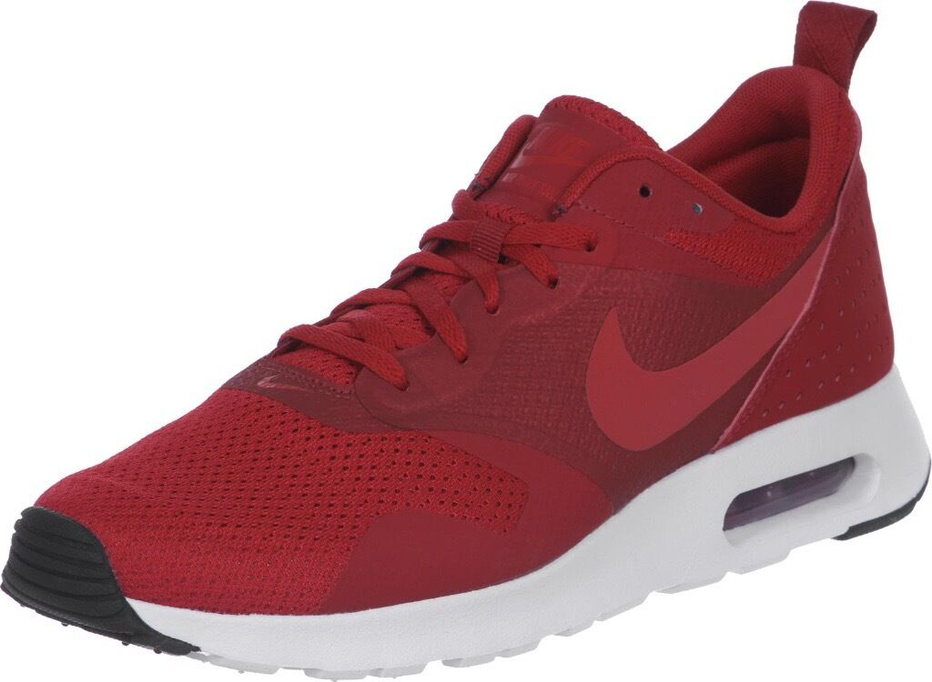luqud Nike Air Max Tavas Red Men Trainers Shoes Size 8 Good as New Cheap