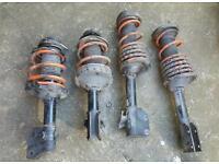 Subaru Impreza WRX STi Spec C Shocks and Tanabe lowering springs