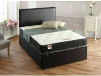 ⭐🆕 FLASH DEAL LUXURY DIVAN BED BASES IN ALL SIZES & COLORS READY TO GO WITH MATTRESS