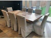 Four Lombok Dining Chairs Like Neptune OKA