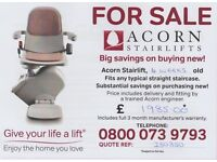 Nearly new Acorn straight stairlift - delivered and fitted in your home