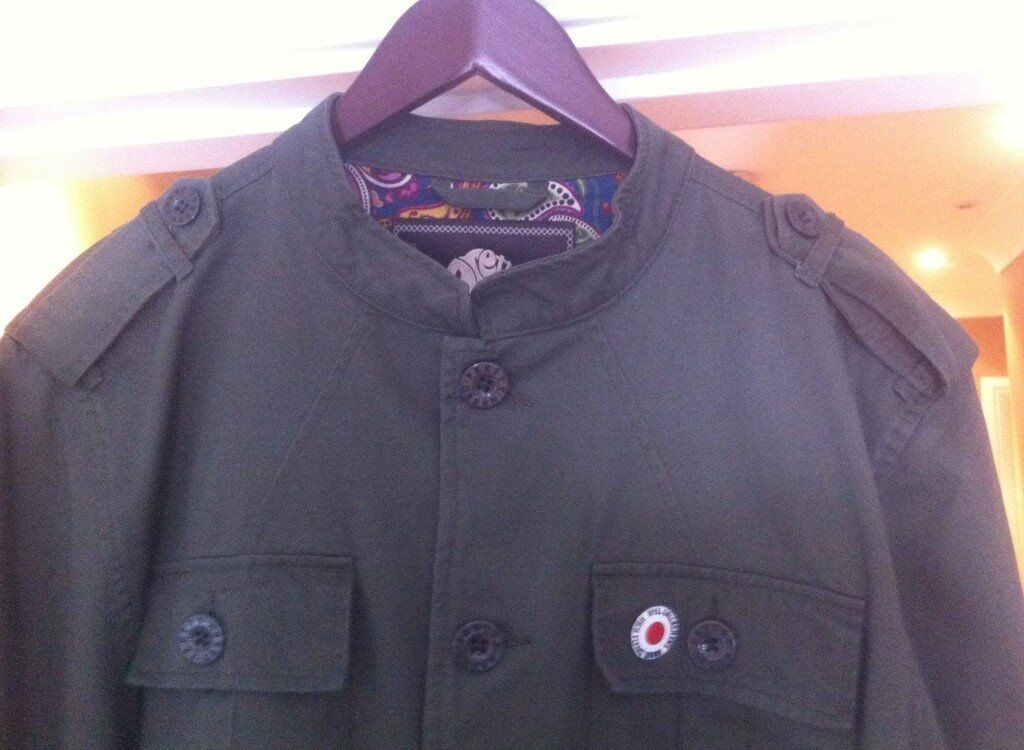 Pretty Green Khaki Lennon Jacket XXL  63c2030f82da