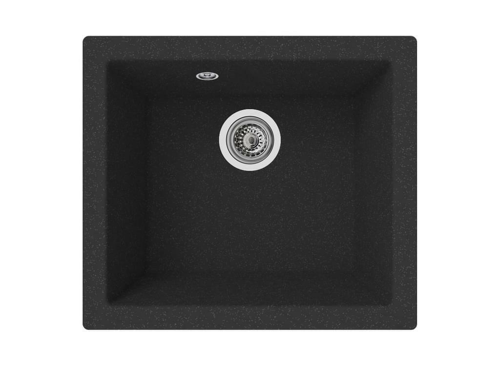 Einbauspüle Ohio 50 x 44 cm schwarz respekta B-Ware einwandfrei