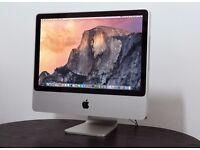 """iMac 20"""" Intel Core 2 Duo @ 2.00 Ghz 4GB DDR2 240GB SSD Ati Radeon HD, OS X Yosemite 10.10.5"""