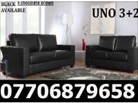 3 + 2 Italian leather sofa brand new black or brown sofas