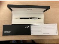 BRAND NEW Mont Blanc Meisterstuck Classique Black Silver Ball Point Pen