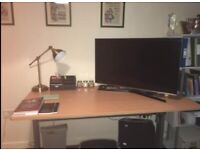 OFFERS ACCEPTED DUE TO HOUSE MOVE! electric height adjustable, large computer desk