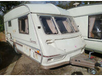 Two-berth Ace Equerry Jubilee 2002 caravan for sale