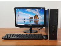 HP PC Computer Windows 10, Intel i7-3770, 8GB RAM 500GB HDD & 120GB SSD
